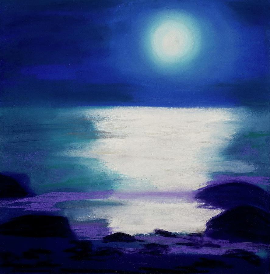 Abstract Pastel - Moonlight Sonata by Diana Tripp