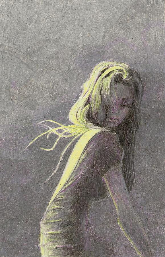 Fashion Drawing - Moonlight by Steve Asbell