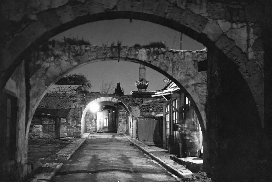 Limassol Photograph - Moonlight View Of Market Street, Odos by W. Robert Moore