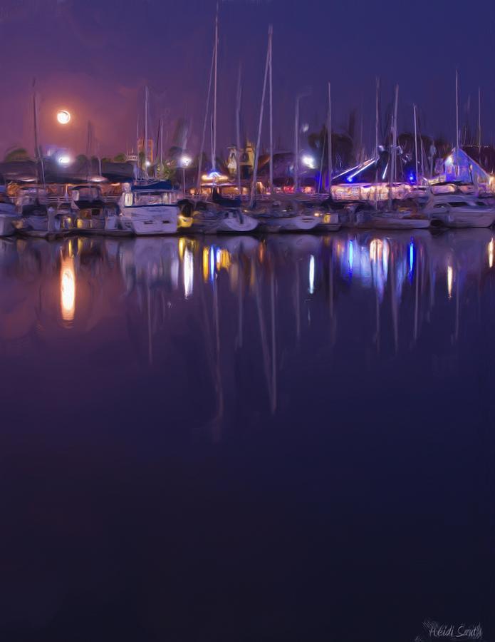 Long Beach Photograph - Moonlight Walk by Heidi Smith