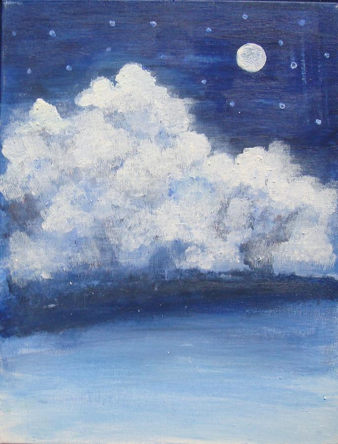 Moonlit Painting - Moonlit Night by Sonali Singh