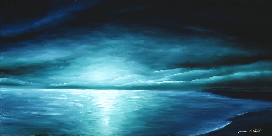 Moonrise II Painting by James Christopher Hill