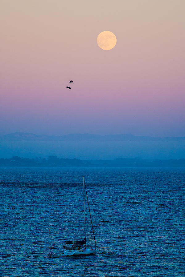 Seattle Photograph - Moonrise Over Capitola by Tommy Farnsworth