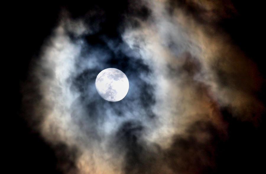 Moon Photograph - Moonshine by Karen Scovill