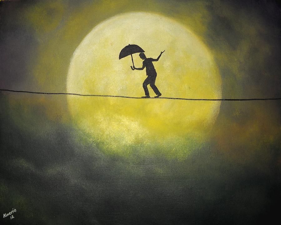 Moonwalker Painting - Moonwalker by Edwin Alverio
