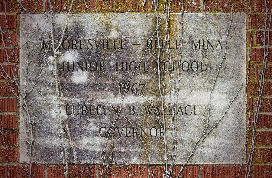 Mooresville Photograph - Mooresville - Belle Mina Junior High School 1967 by Kathy Clark