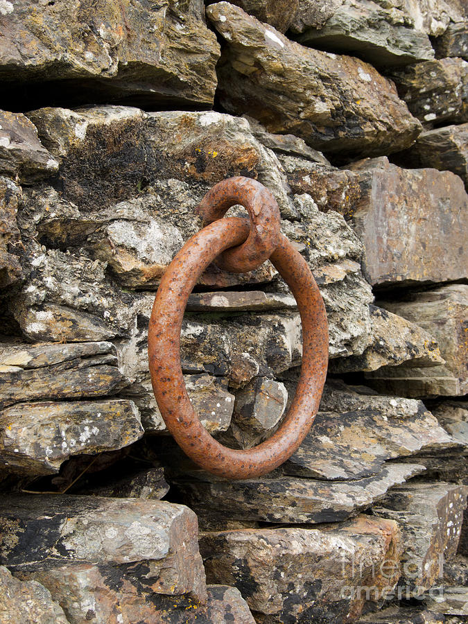 Ring Photograph - Mooring Ring And Rust by Steev Stamford
