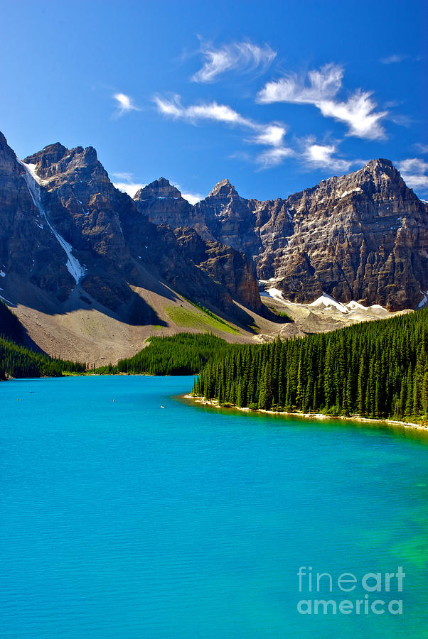 Nature Photograph - Moraine Lake by James Steinberg and Photo Researchers