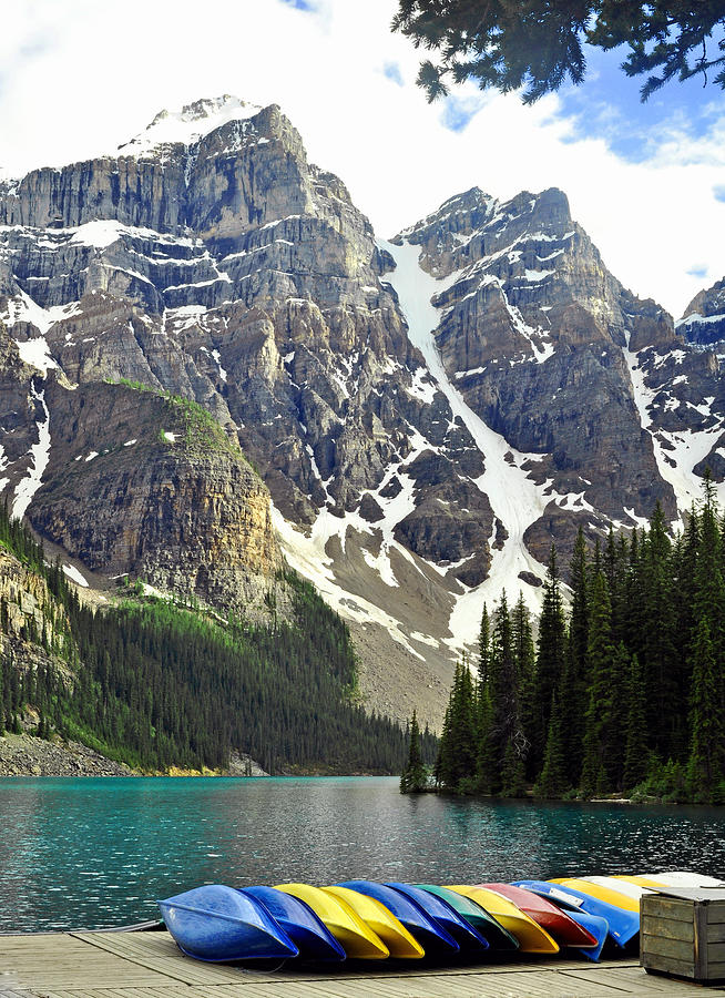 Canada Photograph - Moraine Lake by Lisa Phillips