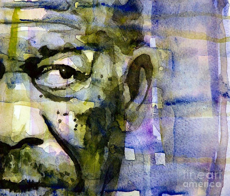 Morgan Freeman Painting - Morgan by Paul Lovering