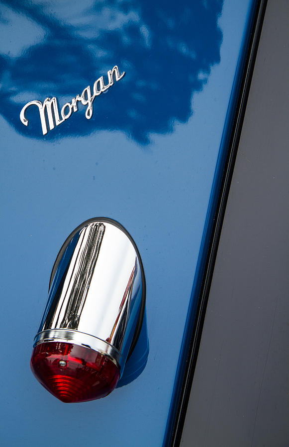 Morgan Plus 8 Photograph - Morgan Plus 8 Taillight And Name Badge by Roger Mullenhour