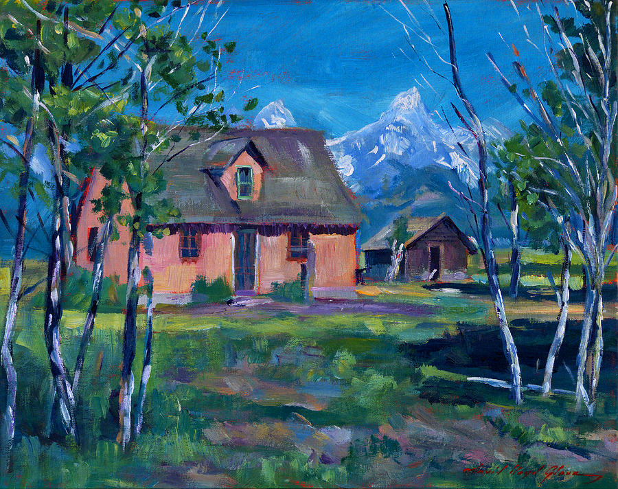 Landscape Painting - Mormons Row by David Lloyd Glover