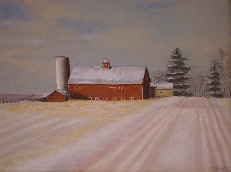Fort Edward Painting - Morning After Heavy Snow by Mark Haley