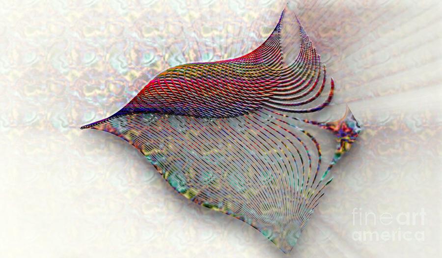 Simple Fractals Digital Art - Morning Bird by Vidka Art