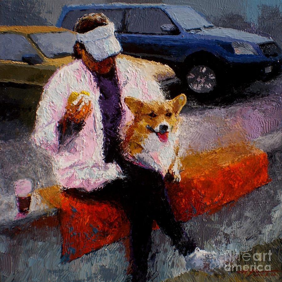 Corgi Painting - Morning Coffee V.2 by Max Yamada