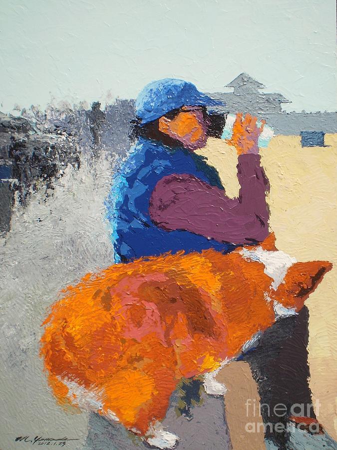 Beach Painting - Morning Coffee v.7 by Max Yamada