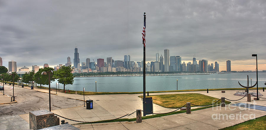 Lake Michigan Photograph - Morning Comes To The City by David Bearden