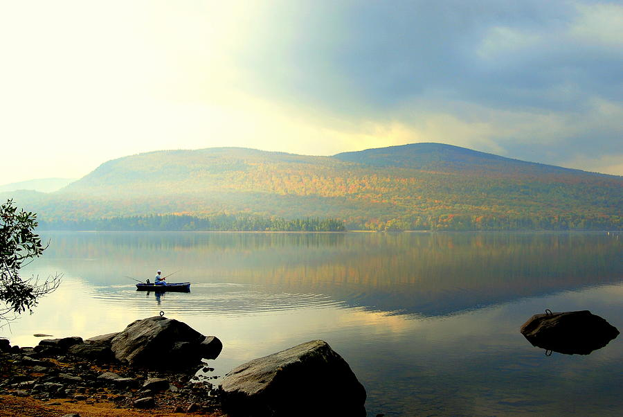 Landscape Photograph - Morning Fisherman by Marie Fortin