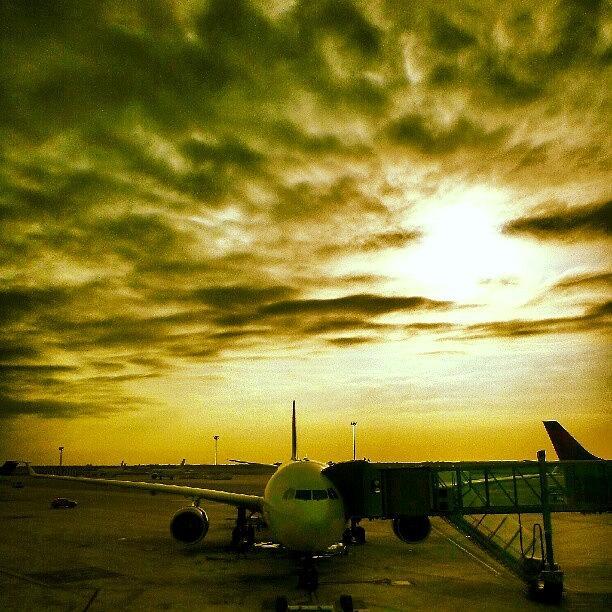 Flight Photograph - Morning Flight #sunrise #flight by Tommy Tjahjono