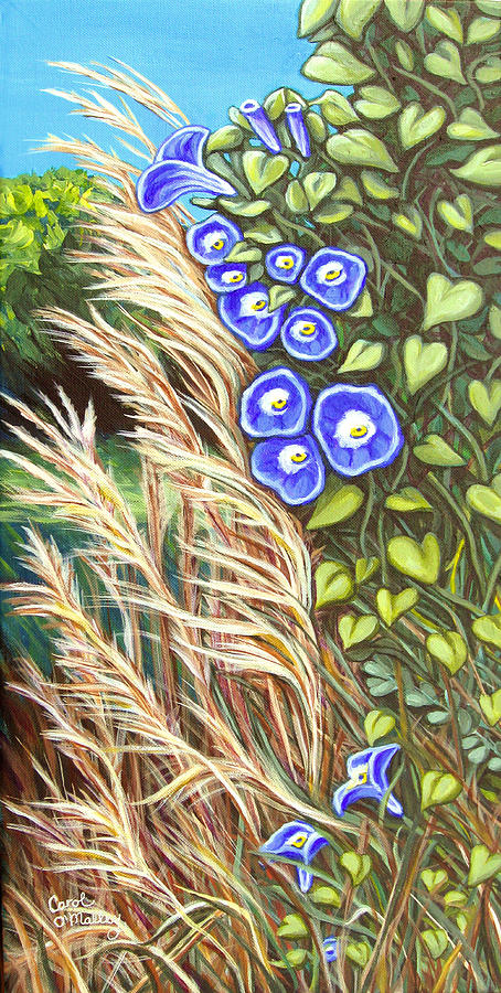 Morning Glory Painting - Morning Glory by Carol OMalley