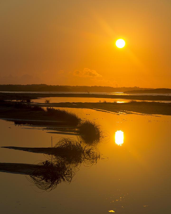 Beach Photograph - Morning Gold by Alan Raasch