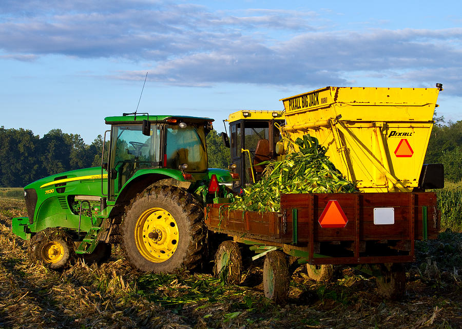 John Deere Photograph - Morning Harvest by Tim Fitzwater