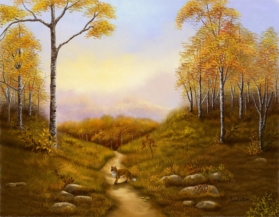 Sunset Painting - Morning Hunt by Sena Wilson