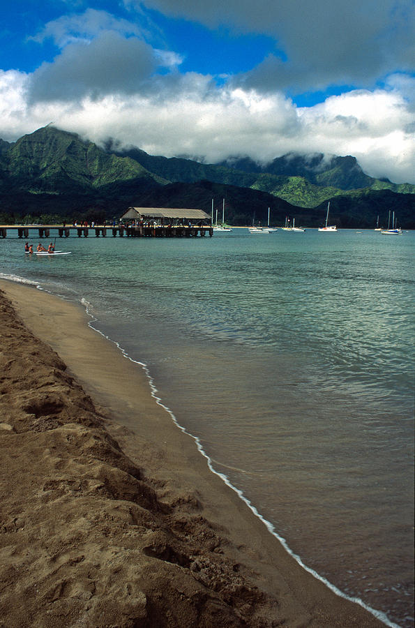 Landscapes Photograph - Morning In Hanalei Bay by Kathy Yates