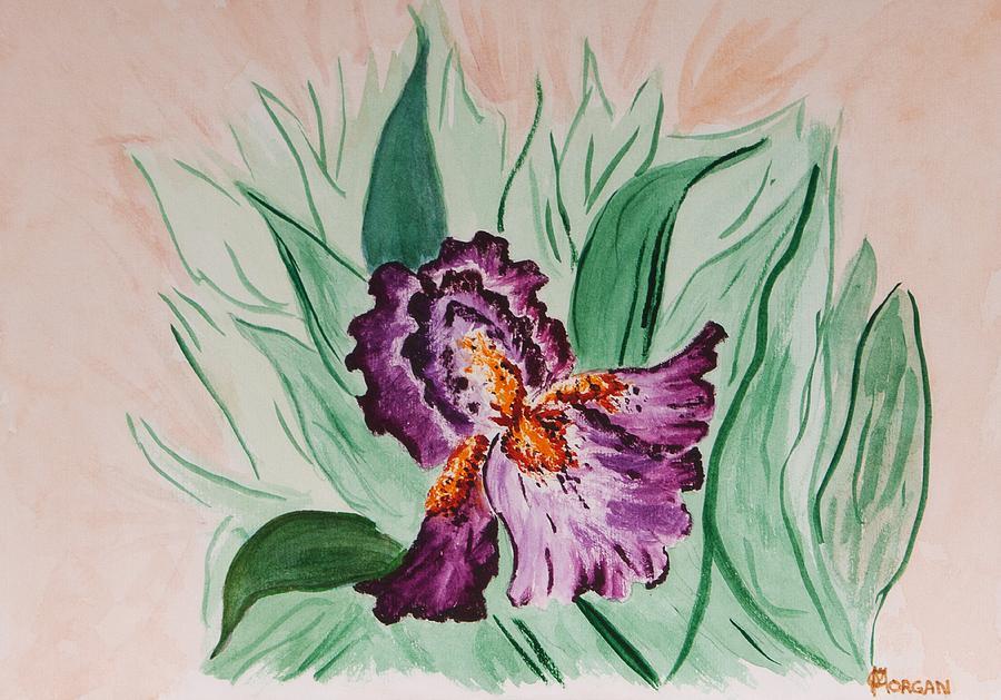 Iris Painting - Morning Iris by Cynthia Morgan
