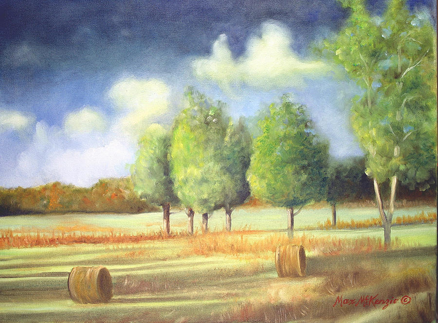 Farm Land Painting - Morning Light by Max Mckenzie