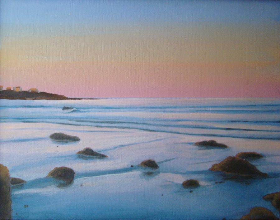 Sunrise Painting - Morning Low Tide by Mark Haley