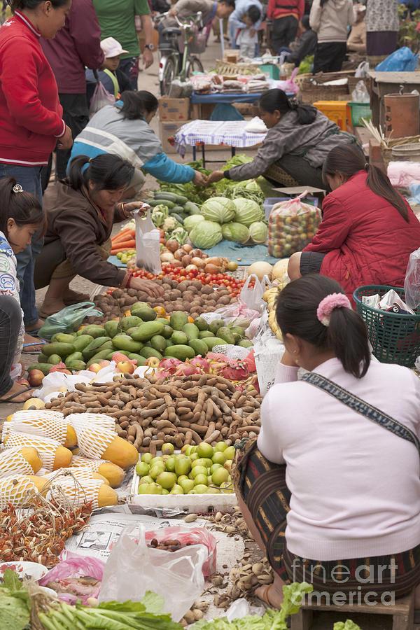 Asia Photograph - Morning Market In Luang Prabang by Roberto Morgenthaler