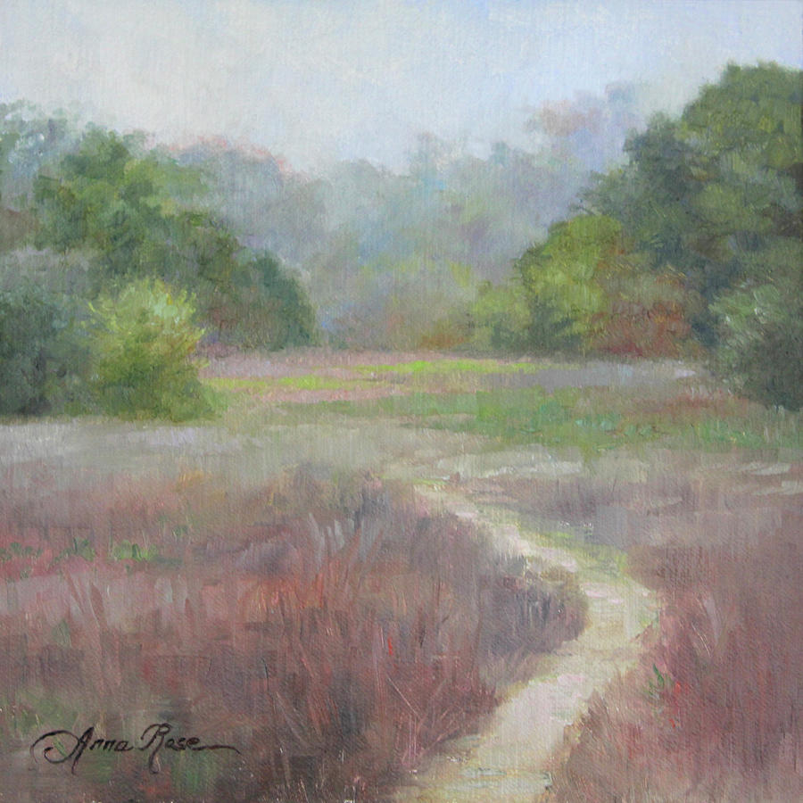 Landscape Painting - Morning Mist by Anna Rose Bain