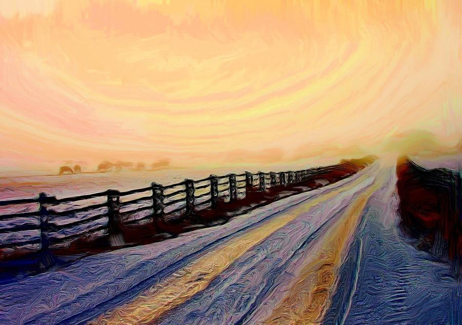 Landscapes Photograph - Morning Roadway by Roland Stanke