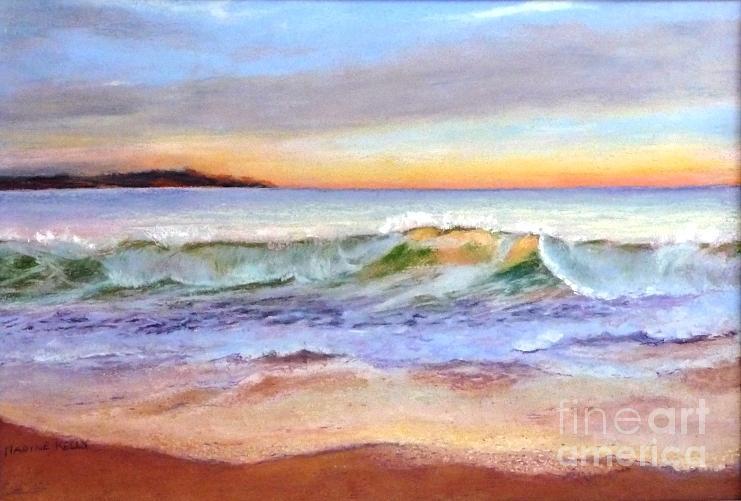 Sunrise Painting - Morning Serenity-phillip Island by Nadine Kelly