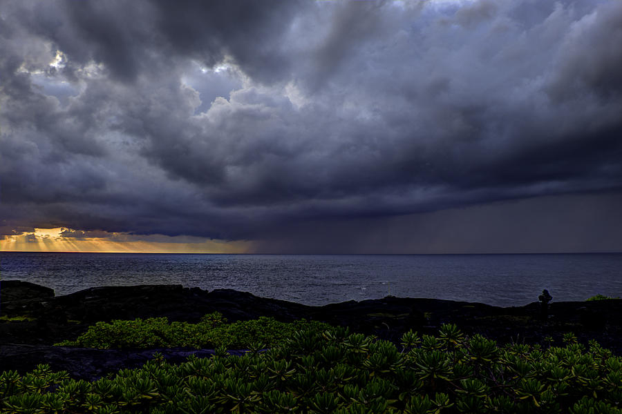 Sunrise Photograph - Morning Squall by Mike Herdering