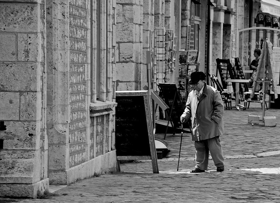 Chartres Photograph - Morning  Stroll by Eric Tressler
