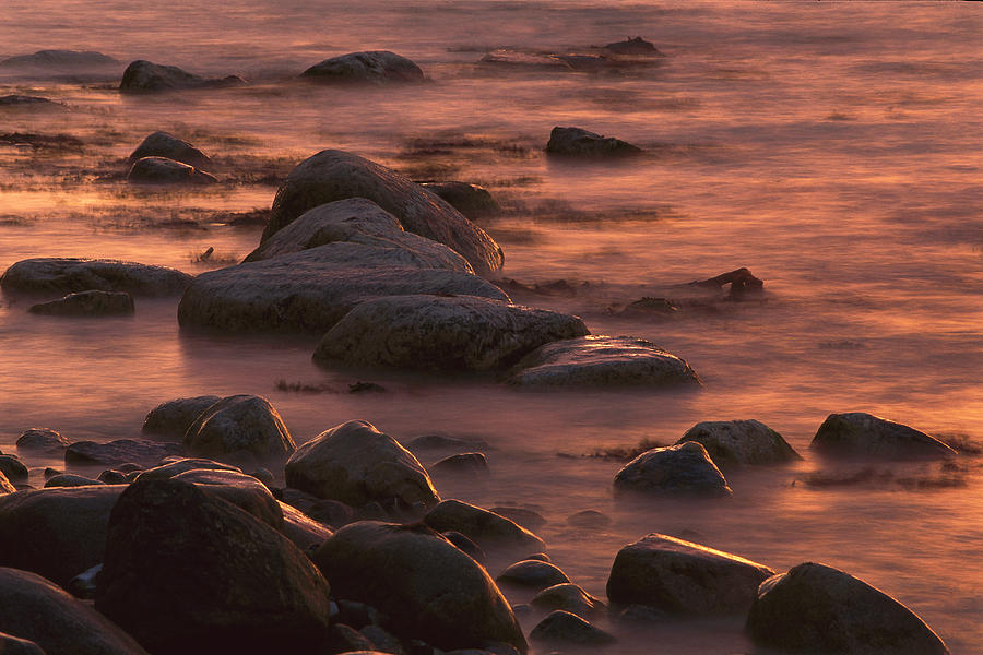 Morning Sun Reflecting In Rocky Water Photograph by Christian Ziegler