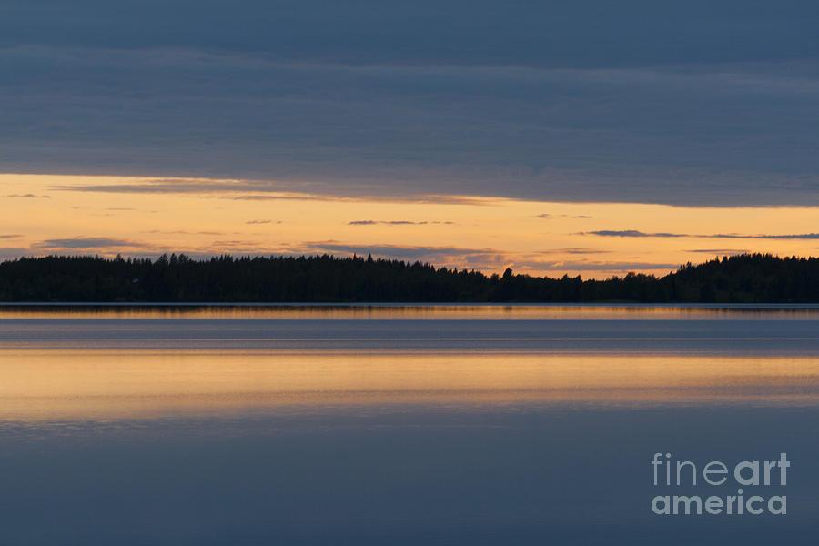 Water Photograph - Morning Sun Rising At Arctic Sea by Heiko Koehrer-Wagner