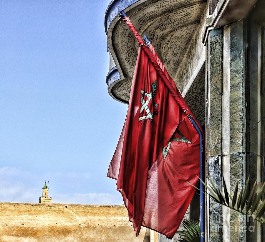 Morocco Photograph - Morocco Flag I by Chuck Kuhn