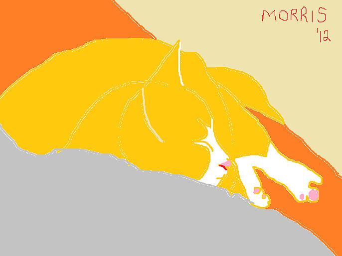 Pets Painting - Morris by Anita Dale Livaditis
