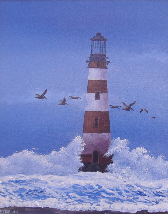 Lighthouses Painting - Morris Island Lighthouse by Michael Allen