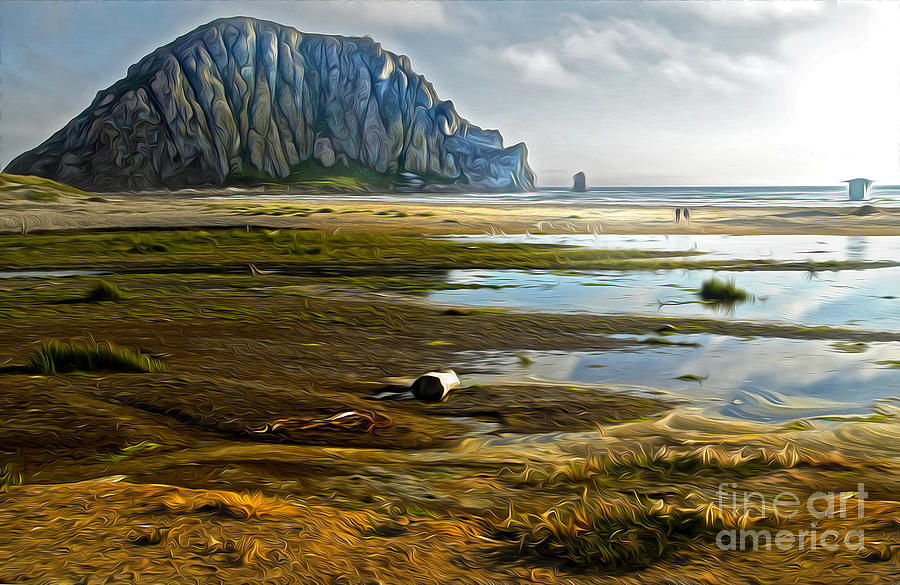 Morro Rock Painting - Morro Bay - Morro Rock by Gregory Dyer