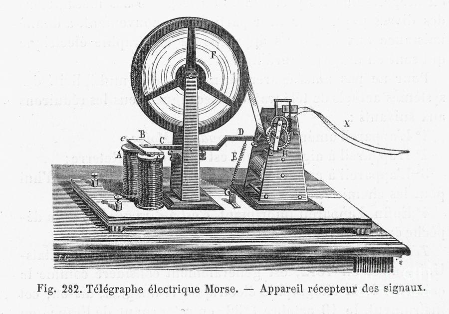 Morse Telegraph Receiver Photograph by Granger  Morse Telegraph...