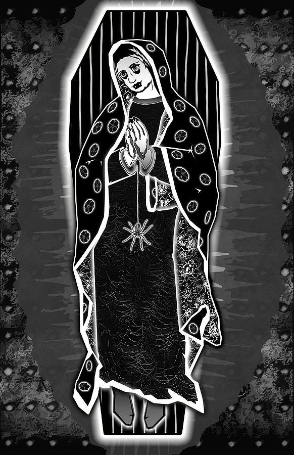 Morticia Digital Art - Morticia Guadalupe by Travis Burns