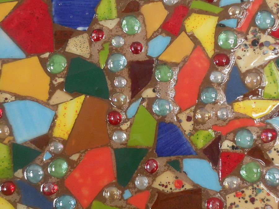 Ceramic Mixed Media - Mosaic Art 6 by Gail Schmiedlin
