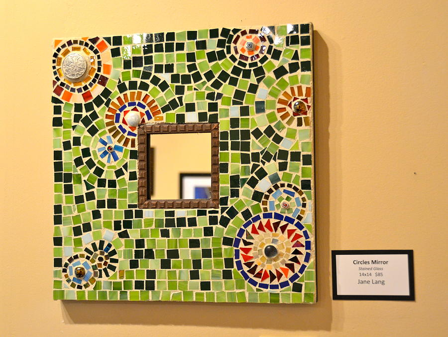Mosaic Frame Ceramic Art by Jane Lang