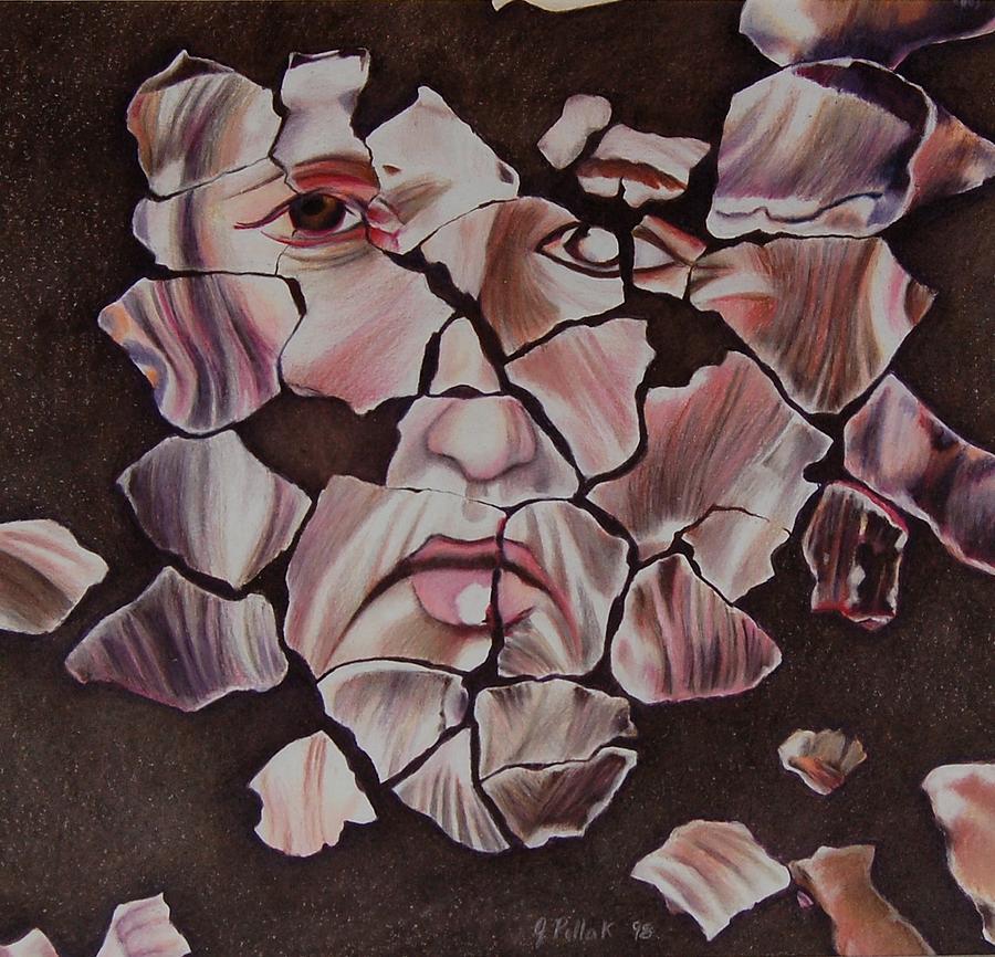 Mosaic Drawing - Mosaic by Joan Pollak