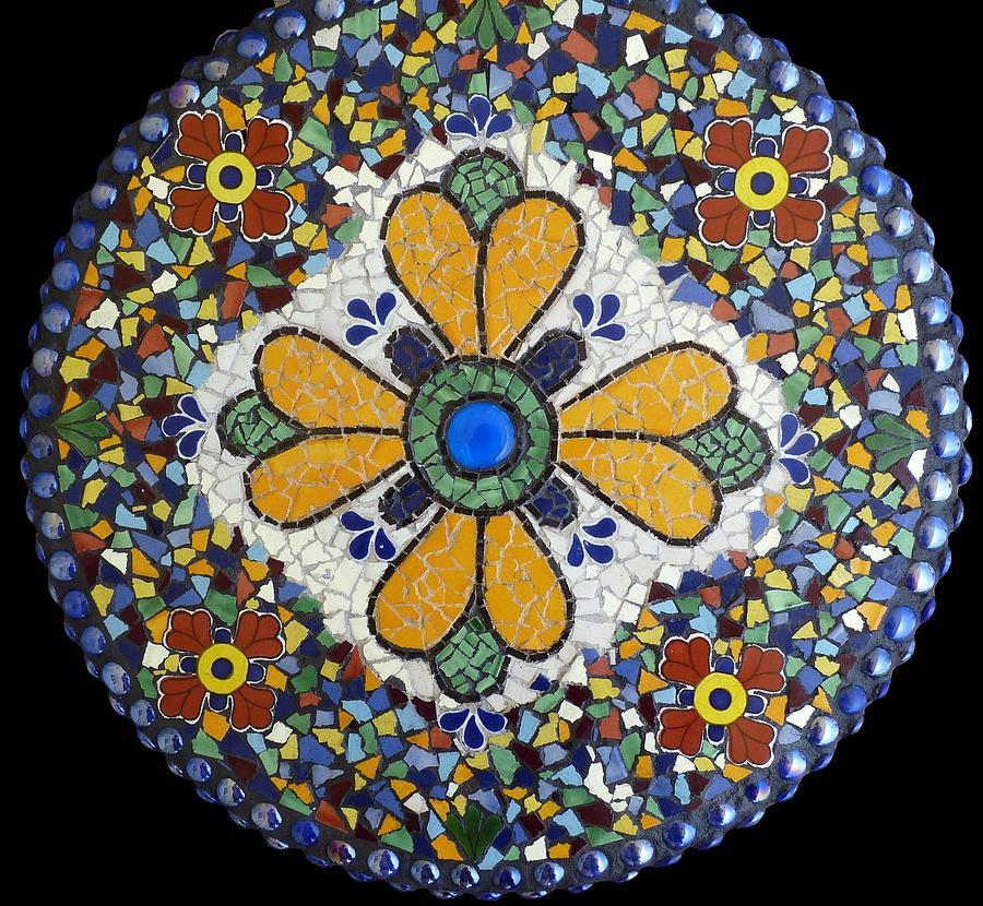 Mosaic Mixed Media - Mosaic Lazy Susan Or Wall Hanging by Katherine Sutcliffe