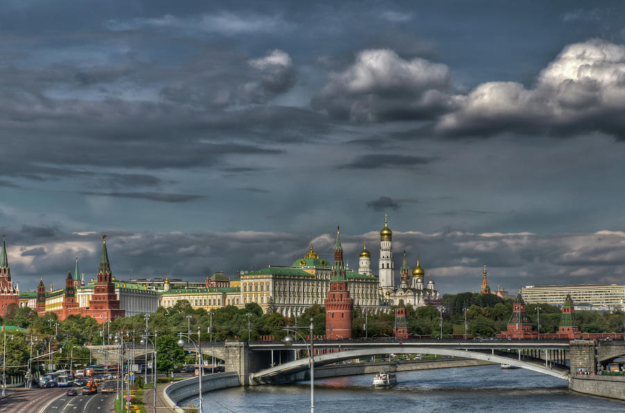 Blue Cloud Photograph - Moscow Kremlin by Michael Goyberg